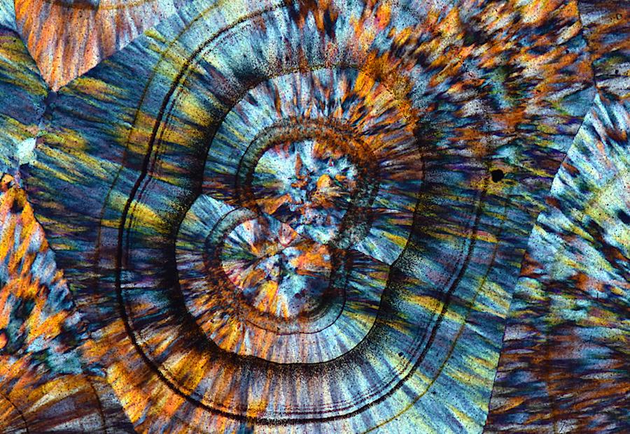 Agate microscape by Barnardo Cesare FRPS (Italy)