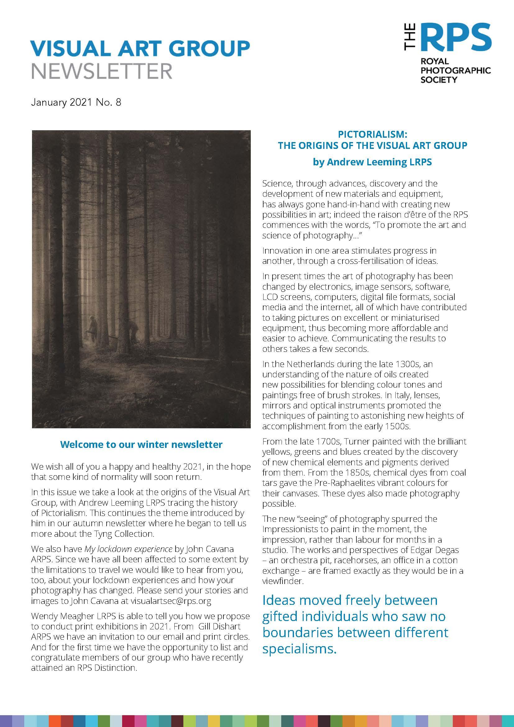 VAG Newsletter No 8 January 2021