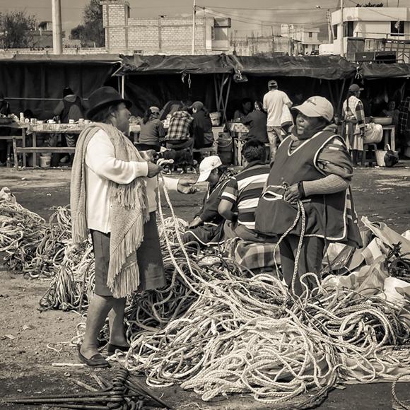 Rope Sellers, Saquisili Market Ecuador