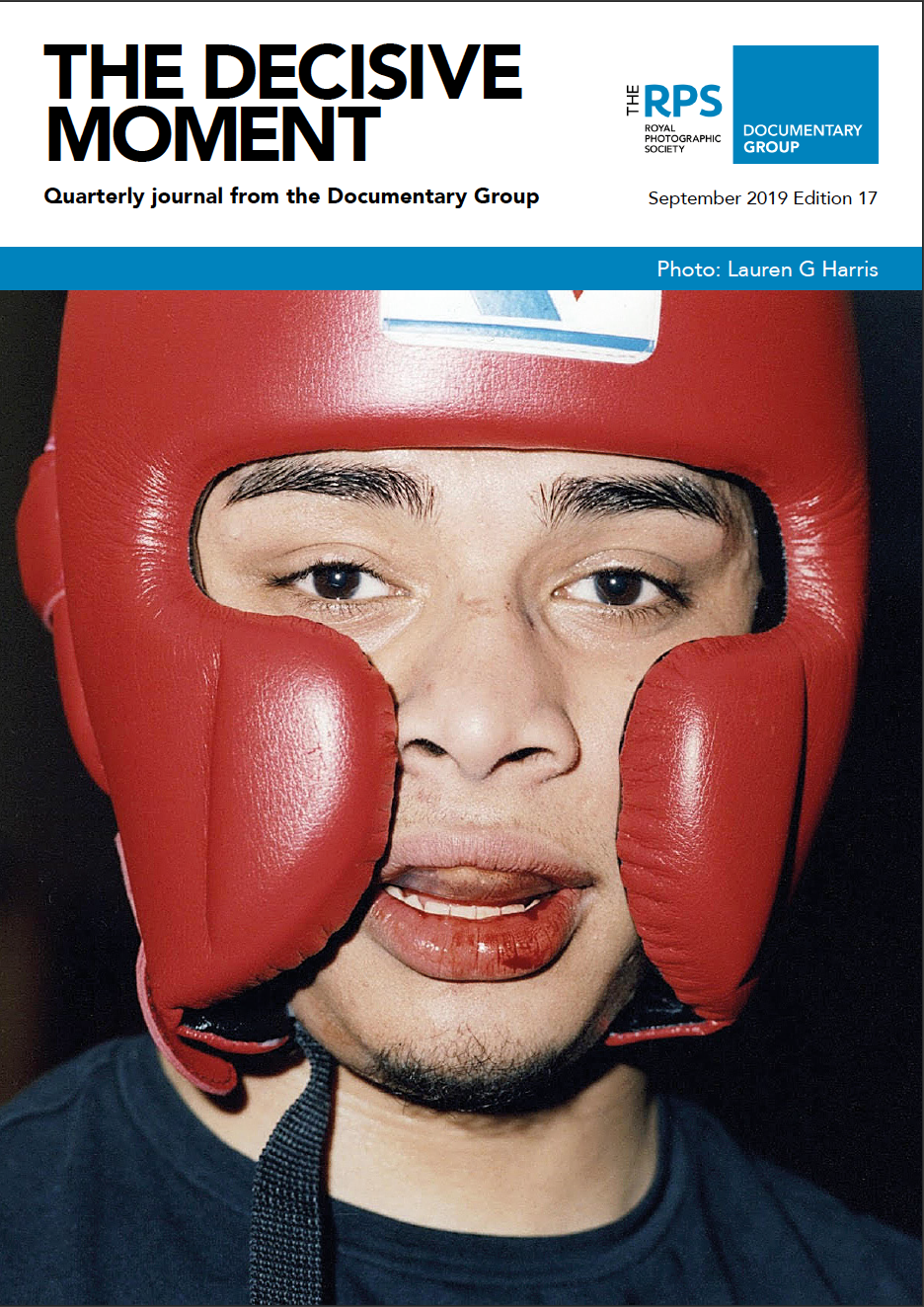 The Decisive Moment cover September 2019 Edition 17; The Boxer by Lauren G Harris