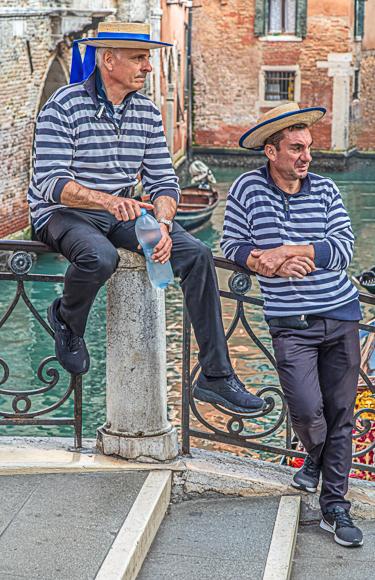 Gondoliers Venice