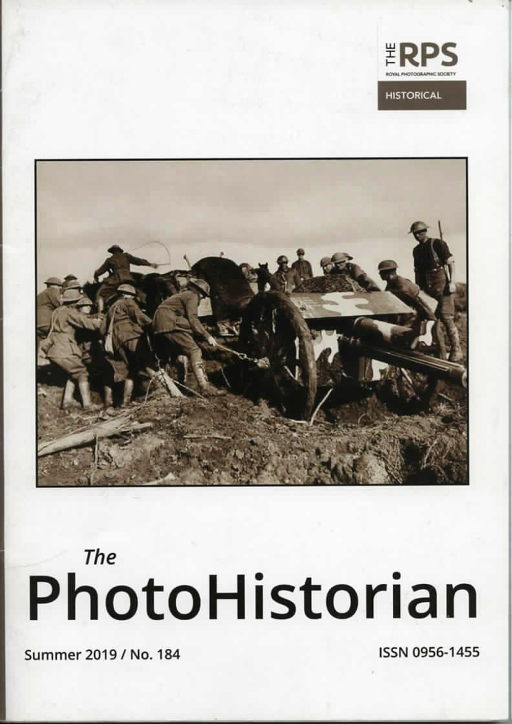 Front cover of the PhotoHistorian, Summer 2019