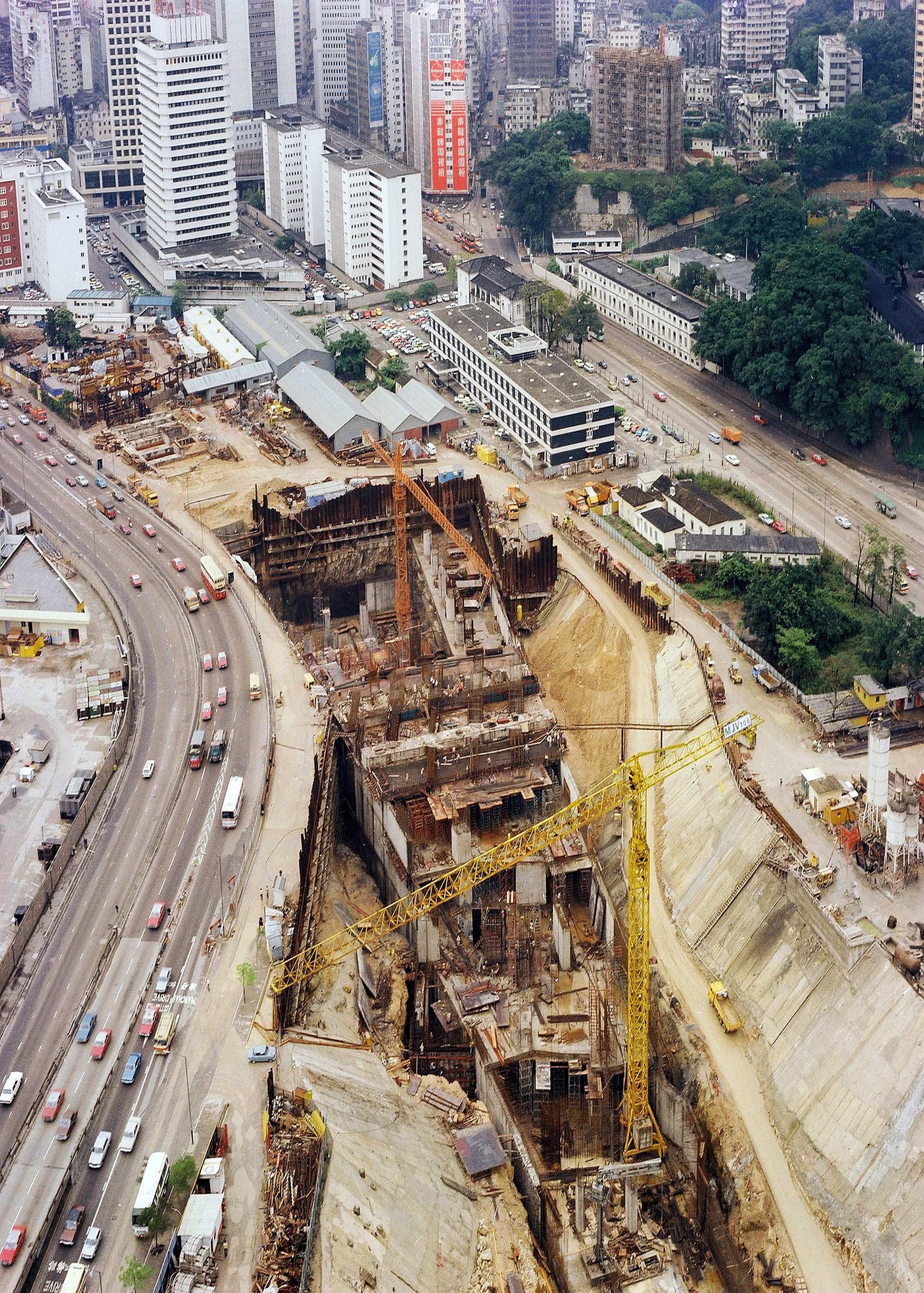Admiralty Station, Hong Kong Mass Transit Railway, Under Construction