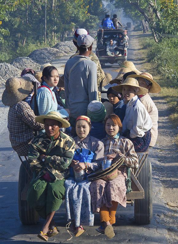 Myanmar Commuters By Steve Jones Copy