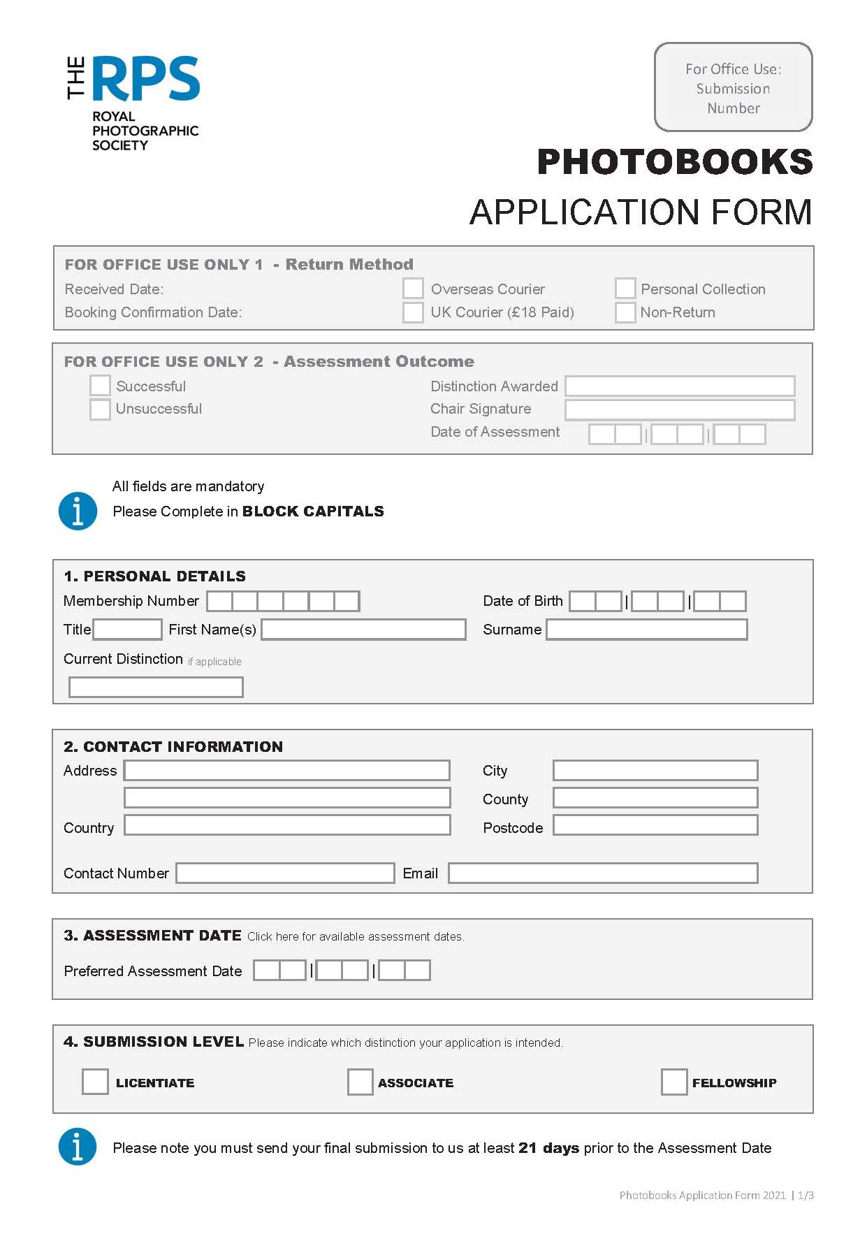 2021 Photo Books Application Form DRAFT Page 1