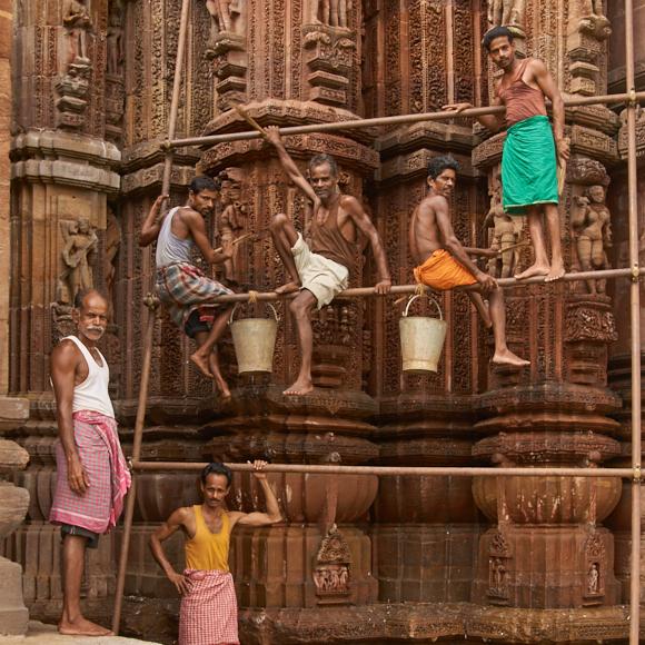 Temple Restorers Of Bhubaneswar India
