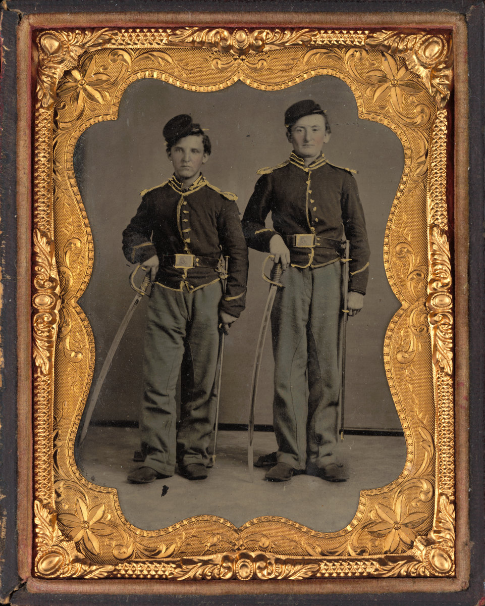 Portrait Of Two Illinois Cavalrymen