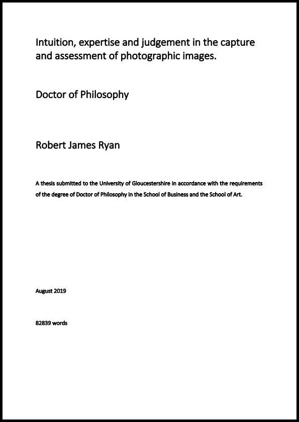 Robert James Ryan Thesis Cover