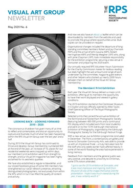 VAG Newsletter No 6 May 2020 Page 1